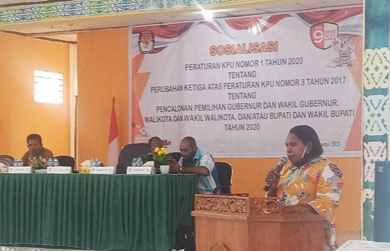 KPU Sorong Selatan Gelar Sosialisasi PKPU No 1 Tahun 2020